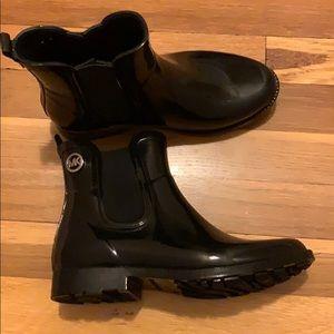 NWOT Michael Kors Black Rain Boots